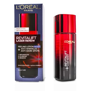 L'Oreal โลชั่นกลางคืน Revitalift Laser Renew - Anti-Wrinkles+Anti-Dark Spots Peeling Lotion Night  125ml/4.23oz