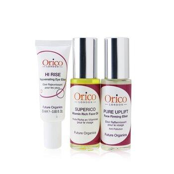 Orico London Age Resist Trio: Face Oil 30ml/1.01oz + Firming Elixir 30ml/1.01oz + Eye Elixir 25ml/0.85oz  3pcs