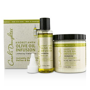 Carol's Daughter Khoret Amen Olive Oil Infusion Kit: Hair Oil 60ml + Hair Smoothie 226g  2pcs