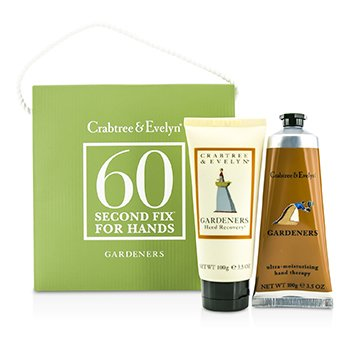 Crabtree & Evelyn Gardeners 60 Second Fix for Hands: Hand Recovery 100g + Hand Therapy 100g  2pcs