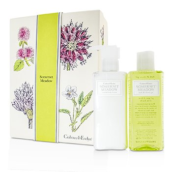 Crabtree & Evelyn Somerset Meadow Duo: Bath & Shower Gel 200ml + Body Lotion 200ml  2pcs