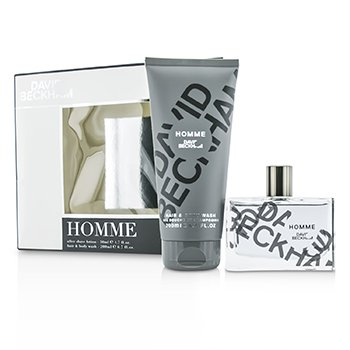 David Beckham Homme Kofre: After Shave Losyon 50ml/1.7oz + Saç ve Vücut Yıkama 200ml/6.7oz  2pcs