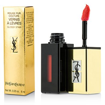 Yves Saint Laurent Rouge Pur Couture Vernis A Levres Pop Water Glossy Stain - #202 Rouge Splash  6ml/0.2oz