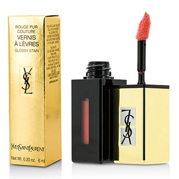 Yves Saint Laurent Rouge Pur Couture Vernis A Levres Color Brillo Agua - #207 Juicy Peach  6ml/0.2oz