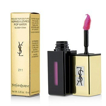 Yves Saint Laurent Rouge Pur Couture Vernis A Levres Pop Water Glossy Stain - #211 Rose Cascade  6ml/0.2oz
