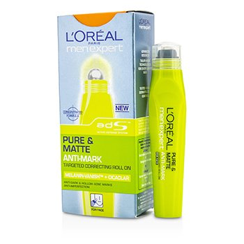 L'Oreal Men Expert Pure & Matte Anti Mark Targeted Correcting Roll On (MFG Date: Apr 2011)  10ml/0.33oz
