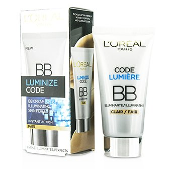 L'Oreal บีบีครีม Luminize Code Skin Perfector BB Cream SPF15 - # Fair  50ml/1.69oz