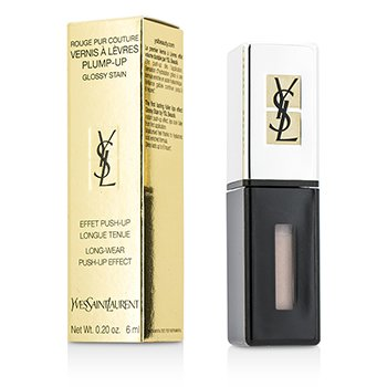 Yves Saint Laurent Rouge Pur Couture Vernis a Levres Plump Up Glossy Stain - #200 Rose Nu  6ml/0.2oz