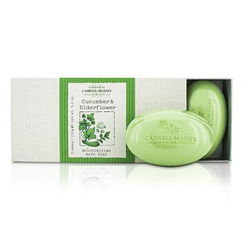 Caswell Massey Cucumber & Elderflower Moisturizing Bath Soap Set  3x150g/5.2oz