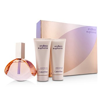 Calvin Klein Bộ Endless Euphoria: Eau De Parfum Spray 125ml/4oz + Dưỡng Thể 100ml/3.4oz + Gel Tắm 100ml/3.4oz  3pcs