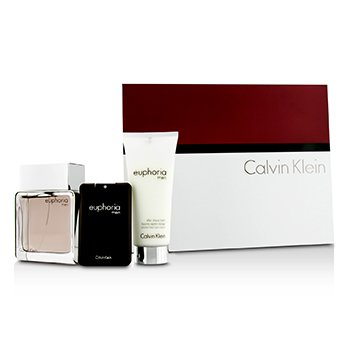 Calvin Klein Euphoria Intense Coffret: Eau De Toilette Spray 100ml/3.4oz + Bálsamo para Depués de Afeitar 100ml/3.4oz + Eau De Toilette 20ml/0.67oz  3pcs