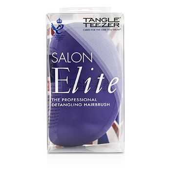 Tangle Teezer Salon Elite Professional Detangling Hair Brush - # Purple Crush (For Wet & Dry Hair)  1pc