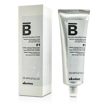 Davines ครีมปกป้องผม Balance Relaxing System Protective Relaxing Cream # 1 (สำหรับผมเส้นเล็กชี้ฟู)  125ml/4.22oz