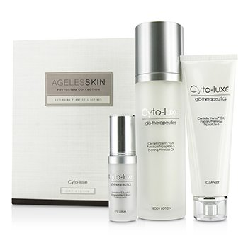 Glotherapeutics Cyto-Luxe Agelesskin Phytostem Collection: Cleanser 130ml + Eye Serum 17ml + Body Lotion 200ml  3pcs