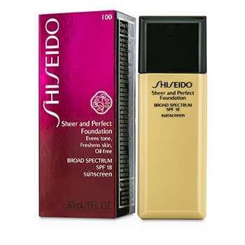 Shiseido Sheer & Perfect Foundation SPF 18 - # I00 Very Light Ivory  30ml/1oz