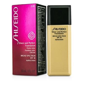 Shiseido Base Sheer & Perfect SPF 18 - # O20 Natural Light Ochre  30ml/1oz