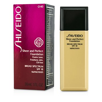 Shiseido Sheer & Perfect Foundation SPF 18 - # O40 Natural Fair Ochre  30ml/1oz