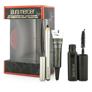 Laura Mercier ชุด Eye Transformer Trio (1x Mini Eye Glace 4g + 1x Mini Kohl Eye Pencil 0.85g + 1x Mini Mascara 5.7g) - Black Diamond  3pcs