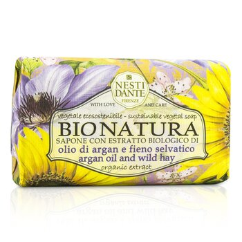 Nesti Dante Bio Natura Sustainable Vegetal Soap - Argan Oil & Wild Hay - Perawatan Badan  250g/8.8oz