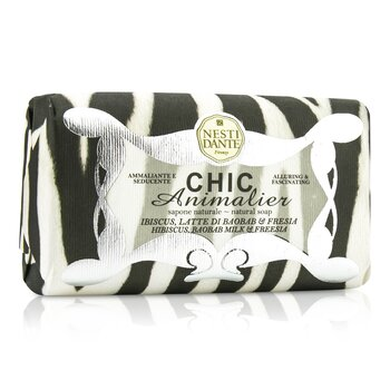 Nesti Dante Chic Animalier Natural Soap - Hibiscus, Baobab Milk & Freesia - סבון היביסקוס, באובב, חלב ופרזיה  250g/8.8oz