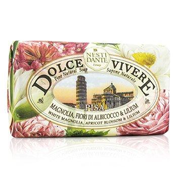 Nesti Dante Dolce Vivere Fine Sapun Natural -  Pisa - White Magnolia, Apricot Blossom & Lilium  250g/8.8oz