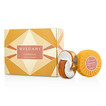 Bvlgari Omnia Indian Garnet Coffret: Eau De Toilette Spray 40ml/1.35oz + Scented Soap 150g/5.3oz  2pcs