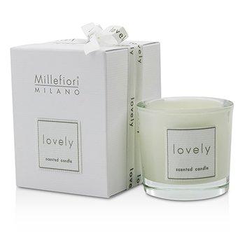 Millefiori Świeca zapachowa Lovely Candle In Bicchiere - Bianco  60g/2.11oz