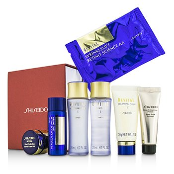 Shiseido Set Revital: Espuma Limpiadora I + Loción EX I  + Humectante EX I  + Primer + Loción AA  + Crema AAA  + Mascarilla Ojos 1par  7pcs