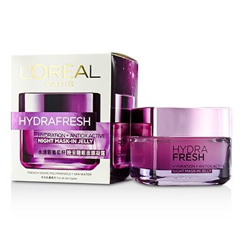 L'Oreal มาสก์ Hydra Fresh Hydration+ Antiox Active Mask-In Jelly  50ml/1.7oz