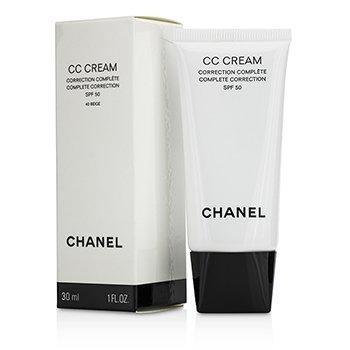 Chanel Cremă CC Complet Corectoare SPF 50/PA++++ # 40 Bej  30ml/1oz
