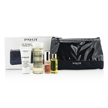 Payot Set de Viaje Top To Toe: Aceite Limpiador 50ml + Crema 5ml + Elixir D'Ean Esencia 5ml + Elixir Aceite 10ml + Bolsa  4pcs + 1bag