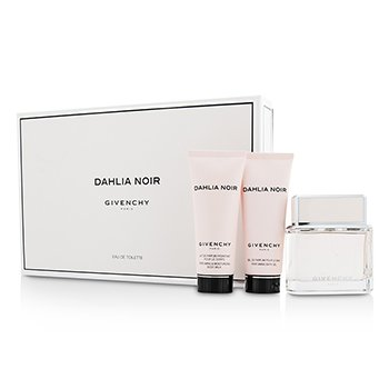 Givenchy Dahlia Noir Coffret: Eau De Toilette Spray 75ml/2.5oz + Leche Corporal 75ml/2.5oz + Gel de Ducha 75ml/2.5oz  3pcs