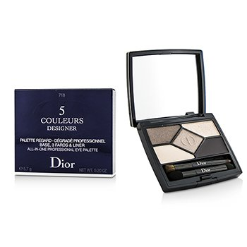Christian Dior Paleta de 5 Colores Designer All In One Artistry - No. 718 Taupe Design  4.4g/0.15oz