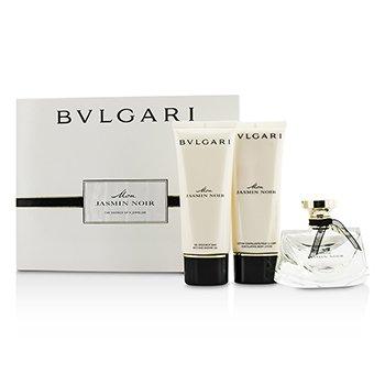 Bvlgari Mon Jasmin Noir Coffret: Eau De Parfum Spray 75ml/2.5oz + Gel de Ducha & Baño 100ml/3.4oz + Loción Corporal 100ml/3.4oz  3pcs