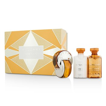 Bvlgari Omnia Indian Garnet szett: Eau De Toilette spray 40ml/1.35oz + testápoló lotion 40ml/1.35oz + fürdő- és tusolózselé 40ml/1.35oz  3pcs