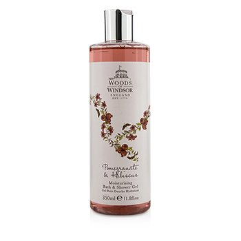 Woods Of Windsor جل مرطب للحمام والدش Pomegranate & Hibiscus   350ml/11.8oz