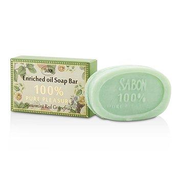 Sabon 100% Pure Pleasure Soap Bar - Spearmint Grapefruit  70g/2.46oz