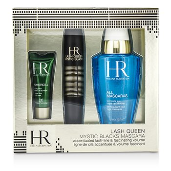 Helena Rubinstein Lash Queen Mystic Blacks Set Máscara: Máscara 7ml/0.24oz +Demaquillante 50ml/1.69oz + Powercell 3ml/0.15oz  3pcs