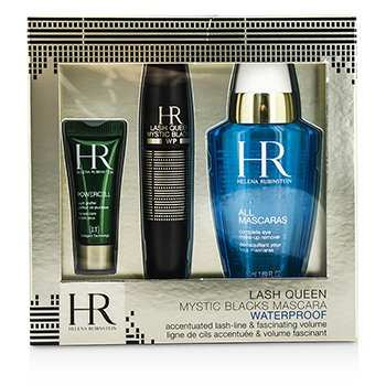Helena Rubinstein Lash Queen Mystic Blacks Set Máscara A Prueba de Agua: Máscara  7ml/0.24oz + Demaquillante 50ml/1.69oz + Powercell 3ml/0.15oz  3pcs