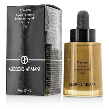 Giorgio Armani Maestro Liquid Summer Bronzer SPF 15 - #100 Sun Kiss  30ml/1oz