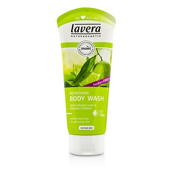 Lavera Limpiador Corporal Refrescante Verbena & Lima Orgánica  200ml/6.6oz