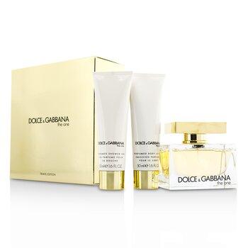 Dolce & Gabbana The One Coffret: Eau De Parfum Spray 75ml/2.5oz + Body Lotion 50ml/1.6oz + Shower Gel 50ml/1.6oz  3pcs