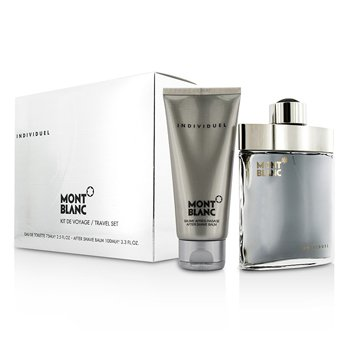 Mont Blanc Zestaw Individuel Coffret: Eau De Toilette Spray 75ml/2.5oz + After Shave Balm 100ml/3.3oz  2pcs