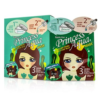 Farm Stay Princess 3-Steps Mask -  Aqua  10pcs