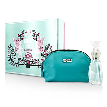 Anna Sui Secret Wish Coffret: toaletna voda u spreju 30ml/1oz + kozmetička torbica  1pc+1pouch