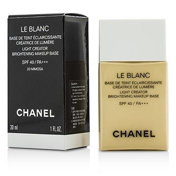 ชาแนล เบสรองพื้น Le Blanc Light Creator Brightening Makeup Base SPF40 - #20 Mimosa  30ml/1oz