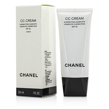 Chanel CC Cream Complete Correction SPF 50 / PA++++ # 10 Beige  30ml/1oz