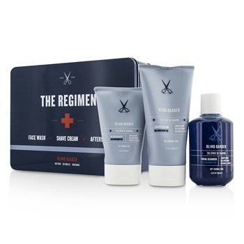 Blind Barber �ش The Regimen Set: �Ӥ������Ҵ���˹�� Facial Cleanser 200ml/6.8oz +����⡹˹Ǵ Shave Cream 150ml/5oz + ���ا��ѧ���⡹ After Shave 100ml/3.3oz  3pcs