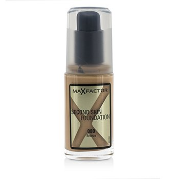 Max Factor Second Skin Foundation - #080 Bronze  30ml/1oz