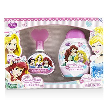Air Val International Disney Princess Coffret: Eau De Toilette Spray 100ml/3.4oz + Gel de Ducha & Champú 300ml/10.2oz  2pcs